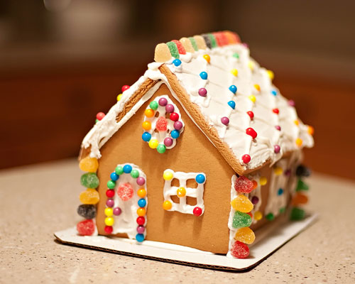 gingerbread house - St. Louis senior photographer