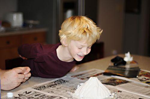 volcano experiment, St. Louis children's photographer